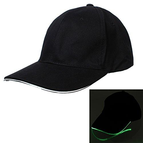 [Bonamana LED Light Fashion Cool LED Baseball Caps Fedora Jazz Cap Luminous Noctilucent Flash Hat For Travel Sports] (Cyclops Visor Costumes)