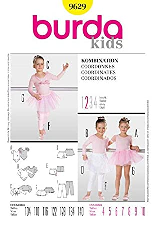 Burda Schnittmuster 9629 Ballet Gr. 104-140: Amazon.de: Küche & Haushalt