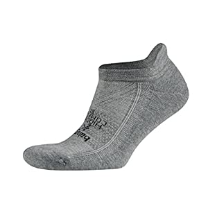 Balega Hidden Comfort Athletic No Show Running Socks for Men and Women with Seamless Toe, (Large) - Charcoal