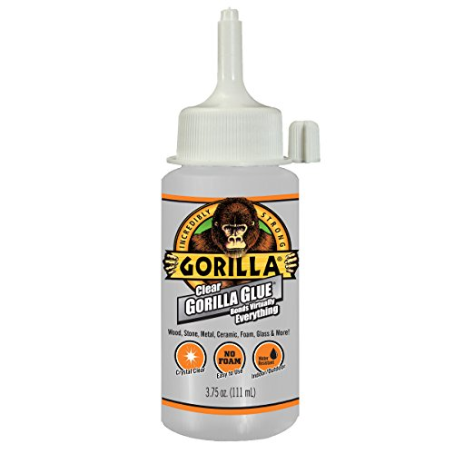 Gorilla Clear Glue, 3.75 ounce Bottle, Clear (Pack of 1)