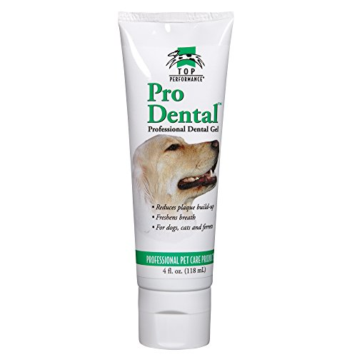 Top Performance ProDental Gel — Soothing and Effective Gel for Cleaning Pets' Teeth and Gums, 4-Ounce