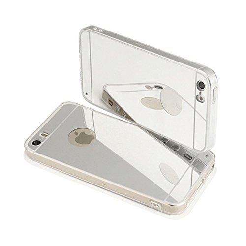 Smartcase Coque pour iPhone 5/5S/SE Argent