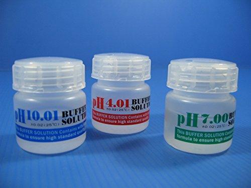 - PH 4.01/7.0/10.01 buffer solution SET 20ml Calibration Fluids aquarium PH Meter