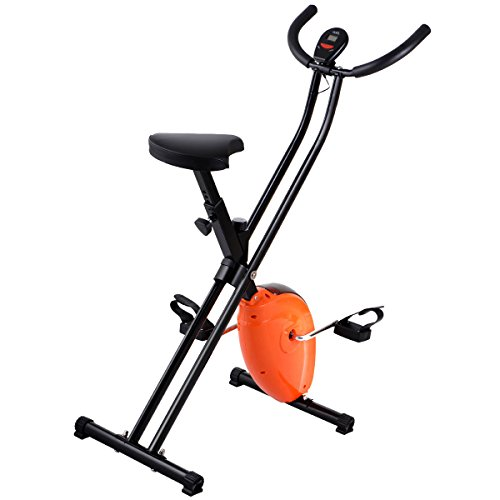 Folding Exercise Bike Home Magnetic Trainer Fitness Stationary Machine New by Eight24hours