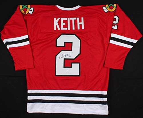 (JEM Sports Memorabilia Duncan Keith Signed Blackhawks Replica Jersey (JSA COA))