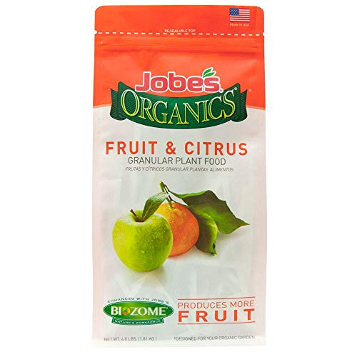 Jobe's Organics 09226 FBA_B0030EK5JE Fruit & Citrus Fertilizer with Biozome, 3-5-5 Organic, 4 lb, Original Version - Fruit Tree Fertilizers