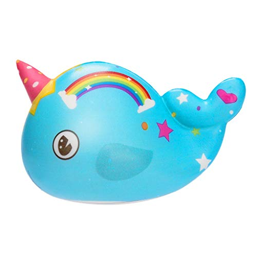 Celiy  Squishies Toy Kawaii Narwhal Slow Rising Cream Scented Stress Relief Toys Gifts