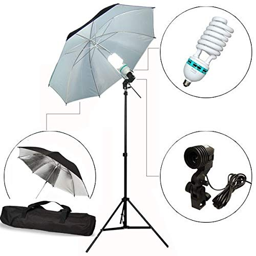 CanadianStudio Photography Reflective Umbrella Light Studio Lighting Stand kit VL-191A