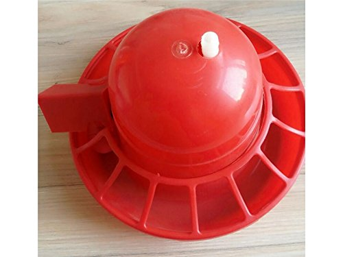 Yunqir Suitable Chick Drinker Drinking Fountain Economy Dispenser Feeder Food Barrel-Red by Yunqir