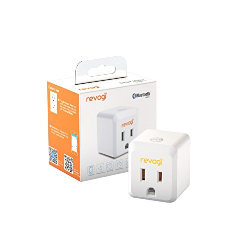 Revogi Smart Meter Plug 2nd Generation SPB411B, Control & Schedule Lights and Appliances, Bluetooth, Energy Management Reporting, Apple Watch Compatable