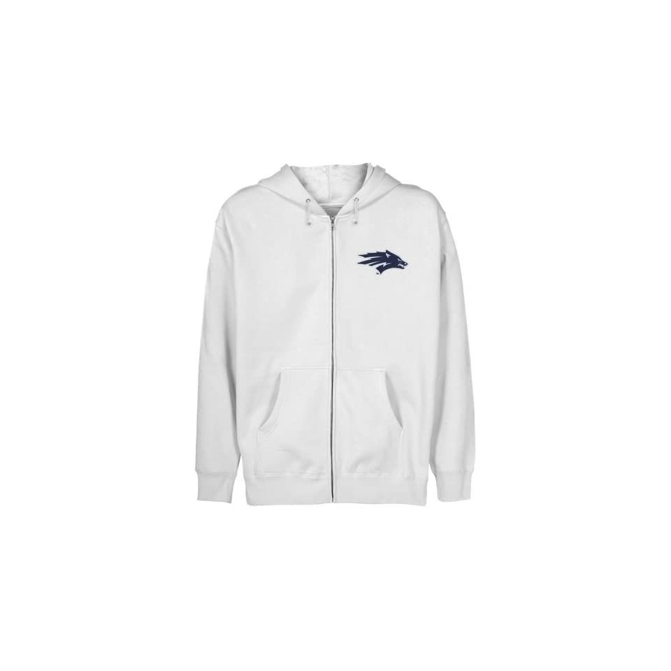 NCAA Nevada Wolf Pack Youth White Logo Applique Full Zip