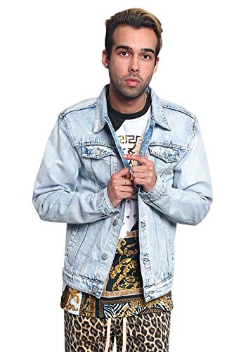Victorious Non-Distressed Essential Denim Jacket DK148 - Light Indigo - X-Large - H14E ()