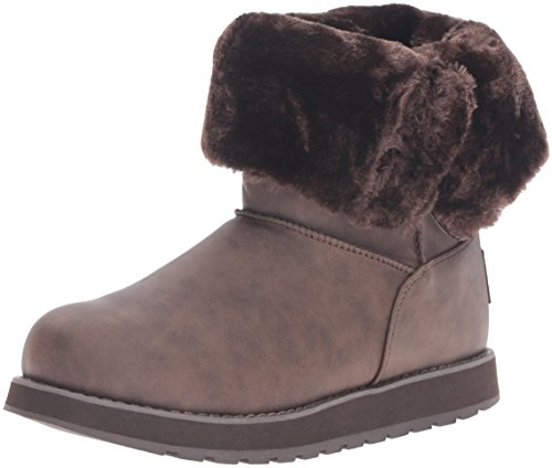 Brn Femme Brun Button D'hiver Botte Mid Leatherette Marron Skechers Keepsakes xw6qF1T1