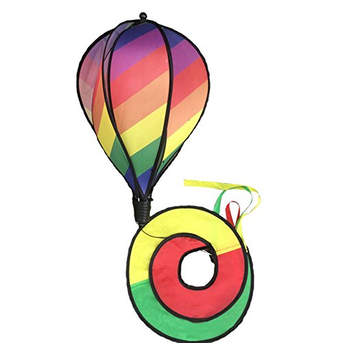 mexudstriped rainbow windsock hot air balloon wind