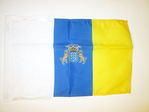 AZ FLAG Canary Islands Flag 18'' x 12'' Cords - Spanish Region of Canarias Small Flags 30 x 45cm - Banner 18x12 in (Canary Islands Flag)
