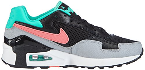 Nike Air Max ST - Zapatillas de material sintético para mujer Negro (Black / Hot Lava-Menta-Wolf Grey)