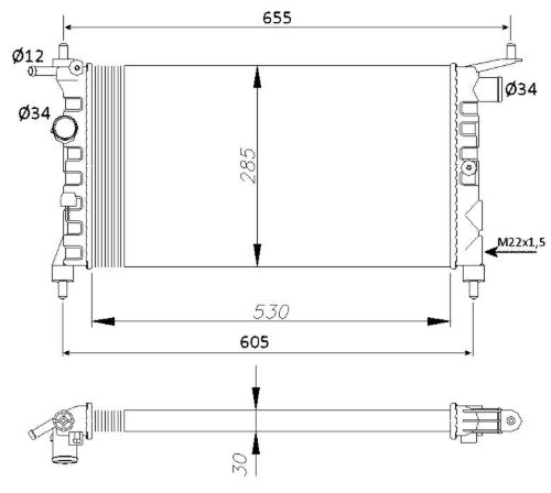 NRF 50551 Radiatore Raffreddamento motore