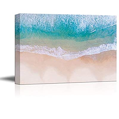 Canvas Wall Art - White Waves and Crystal Clear Water on Tropical Beach - Giclee Print Gallery Wrap Modern Home Art Ready to Hang - 24