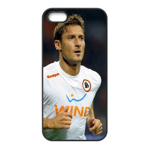 Italian Totti Italy Roma Totti coque iPhone 5 5S cellulaire cas coque de téléphone cas téléphone cellulaire noir couvercle EOKXLLNCD24632