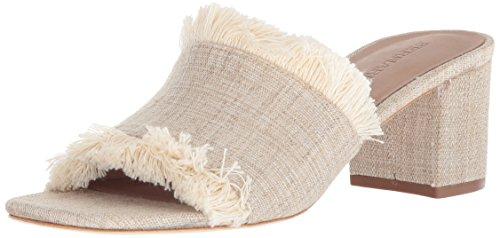 Bernardo Womens Blaire Heeled Sandal Natural Linen 3bu8b