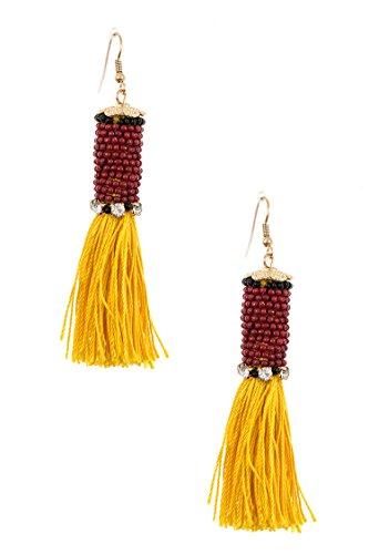 Trendy Fashion Jewelry Wrapped Bead Tassel Crop Dangle Earring By Fashion Destination   (Erickson Beamon Chandelier Earrings)