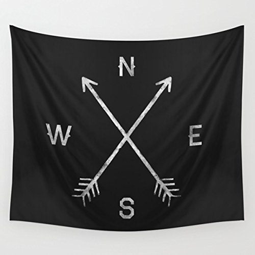 - Shukqueen Black Tapestry Compass Style Wall Art Bedroom Living Room Dorm Wall Hanging Tapestry Decorations Collection, 51
