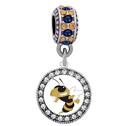 Large Logo Charm - Final Touch Gifts Georgia Tech University Logo Charm Fits European Style Large Hole Bead Bracelets