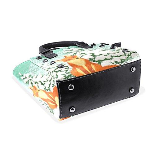 Medio Bolso Crossbody Bolsa Fox Del Multicolor Totalizador Pu Coosun Hombro Red Mujeres De Asa Cuero Superior Oq7xn6xwA