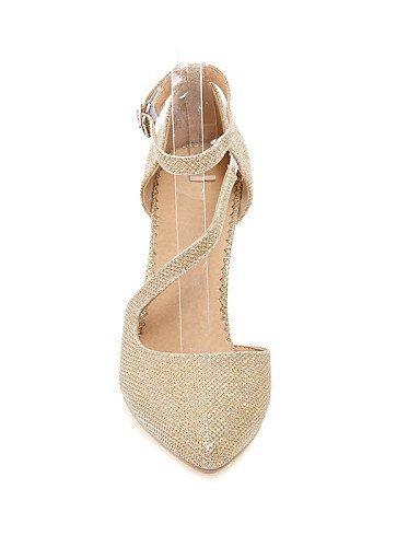 ShangYi Schuh Damen / Mädchen - Hochzeitsschuhe - Absätze - High Heels - Hochzeit / Kleid / Party & Festivität - Silber / Gold , 3in-3 3/4in-golden