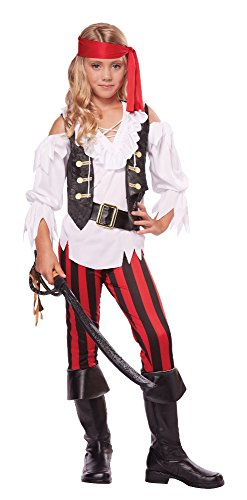 California Costumes Posh Pirate Costume, One Color, 12-14