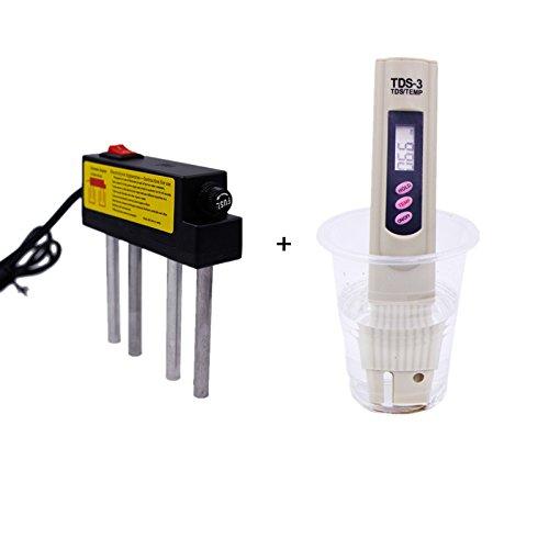 AIKONG Water Electrolyzer test + Meter Tester Filter Water Quality Purity 110V-250V water quality test for fool 17% off