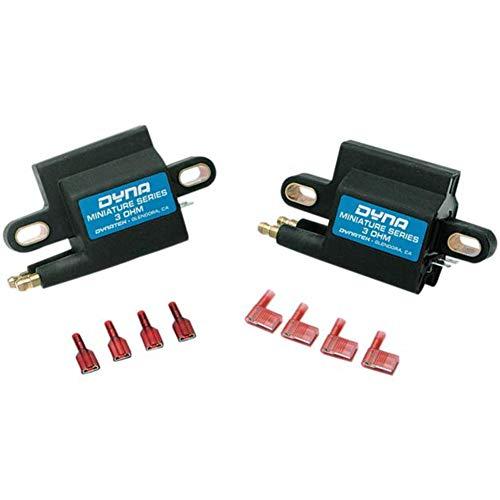 Dynatek Miniature Series Coil - 3.0 ohm - Dual-Tower - Single Fire - Dual Plug DC1-2