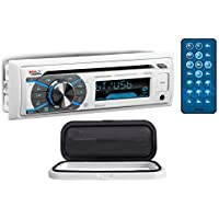 Boss MR508UABW 1-Din Marine Bluetooth Receiver MP3/CD AM/FM+Splash Guard+Remote