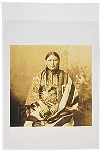 3dRose fl 77337_ 1Sioux mujer Sepia nativo americano bandera de Jardín, 12por 45,72cm