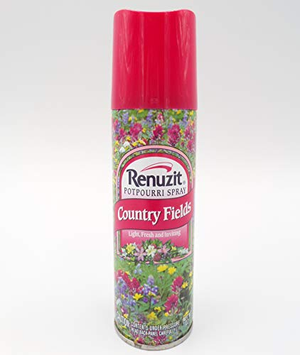 Renuzit Potpourri Spray Air Freshener Can 7 oz Country Fields Scent NOS 1993 Vintage