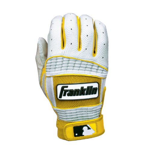 Franklin Sports Youth MLB Neo Classic II Series Batting Gloves (Pair), Pearl/Royal, Medium