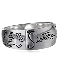 """Sterling Silver """"Sisters"""" Inscribed Outside Ring, Size 7"""