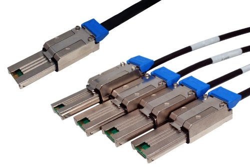 Data Storage Cables, p/n C5656X4-1M: Mini SAS - Mini SAS x 4, 1M, Universal Key [Electronics]