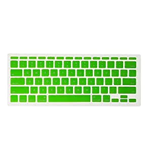 J.M.SHOW Reusable Washable Colorful Silicone Silica Gel Keyboard Protector or Cover for MacBook Air 11-inch (Green)