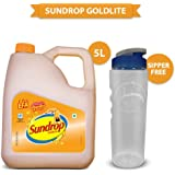 Sundrop Goldlite Corn and Sunflower Oil, 5L with Free Sipper