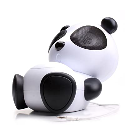 GOgroove Mama Panda Pal Portable High-Powered Stereo Speaker System -Universal 3.5mm Jack for Tablets , iPad , iPod , iPhone , Smartphones , Laptops , MP3 Players & More!