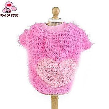 MJD Gatos / Perros Abrigos / Camiseta Azul / Rosado / Amarillo / Rosa Ropa para Perro Primavera/Oto?o Corazones Boda / Cosplay , pink , s: Amazon.es: ...