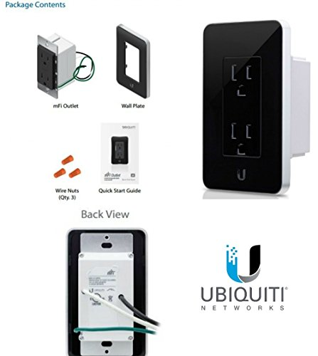 Ubiquiti mFi-MPW Blk mFi In-Wall Manageable Outlet WiFi Access Energy Monitoring (Ubiquiti Mfi Controller)