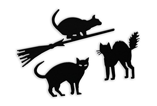 Acurio HW-3CAT-KIT Black Cats Halloween Lawn Decoration, 3-Pack (Halloween Cat Decorations)