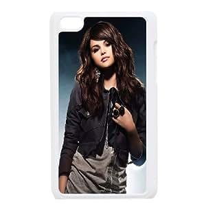Unique Design -ZE-MIN PHONE CASE FOR IPod Touch 4th -Beautiful Selena Gomez Pattern 2