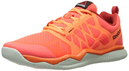 Reebok Men's Zprint Train Running Shoe, Atomic Red/Electric Peach/Motor Red/Opal/Black, 10 M US (Reebok Mens Spring)
