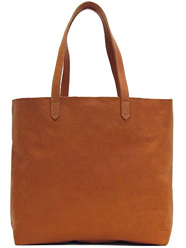 Floto Piazza Leather Tote Bag in Full Grain (Brown Shopper Tote)