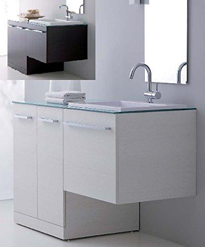 Arredo Bagno in 10 colori con mobile con copri lavatrice lavabo ...
