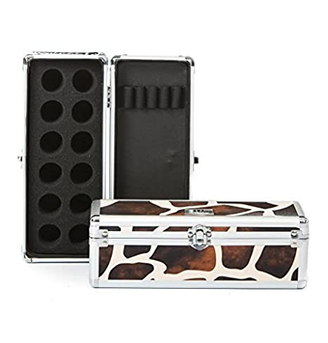 Urbanity Nail Polish Art Glitter Pot Manicure Brush Tool Beauty Case Box Leopard