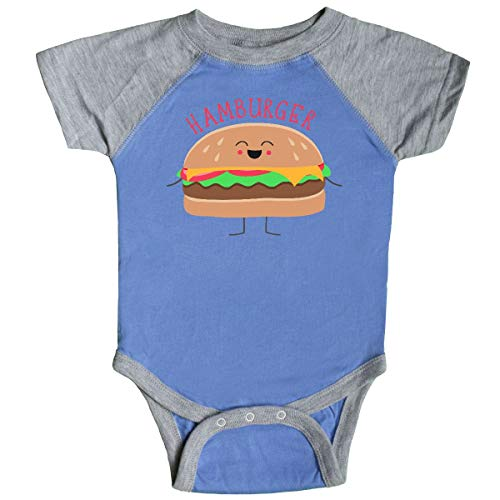 inktastic - Hamburger Costume Infant Creeper 18 Months Blue and Heather -